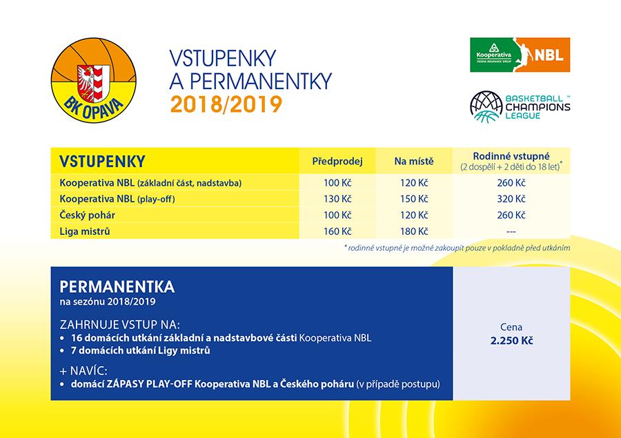 Vstupenky a permanentky 2018/2019